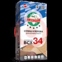 купить Клей для керамогранита Anserglob ВСХ 34 25кг