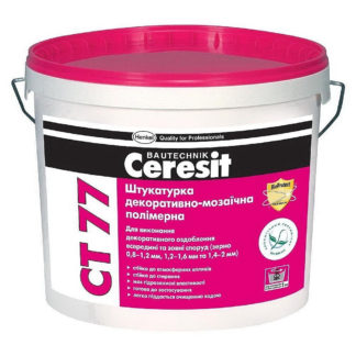 Купить Штукатурка Декоративная мозаичная Ceresit СТ 77 14кг 1,4 - 2,0мм