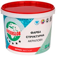 Купить Акриловая краска ANSERGLOB 14 кг структурная