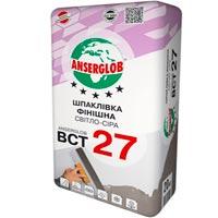 Купить ANSERGLOB ВСТ 27 шпаклевка финишная светло-серая 20 кг
